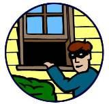 A burglar entering illegally