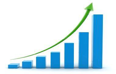 Business growth graph representing business growth as a result of an effective website