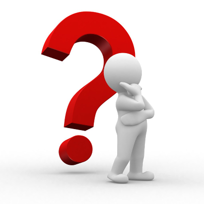Image of a question mark representing someone with questions about website development