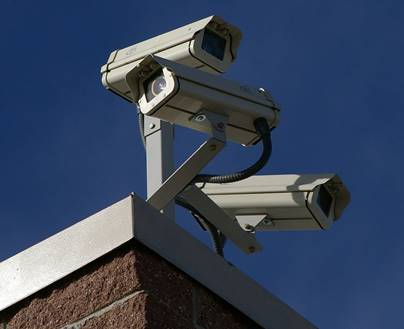 Picture of security cameras representing security monitoring services for WordPress
