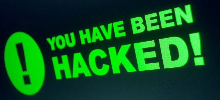 Screen saying You Have Been Hacked